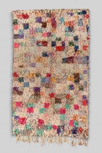 Tapis Boucherouite - Patchwork vintage coloré