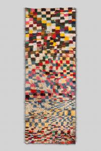 Tapis Boucherouite coloré - patchwork multicouleur